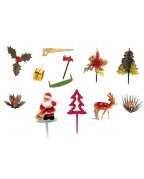 Set of 10 packets of 12 Christmas figurines