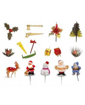 Set of 10 packets of 17 Christmas figurines