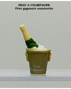 "Set of 5 winning fèves numbered ""the cider bottle"" ""the champagne ice bucket"""