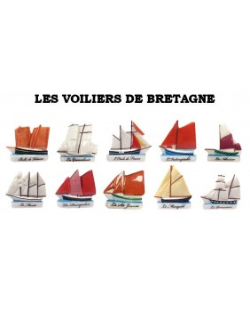 Sailing boats from Brittany