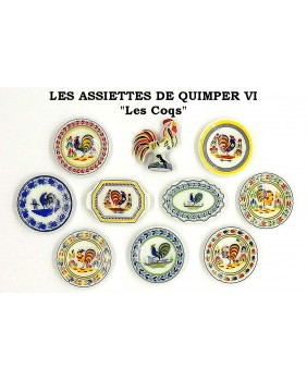 The Quimper plates IV - the roosters - box of 100