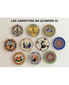 The Quimper's plates III - box of 100