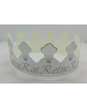 Box of 100 silver king and queen crowns