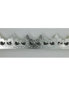 "Set of 10 silvered crowns ""fleur de lys"""