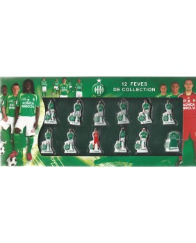 coffret ASSE - 12 fèves de collection foorball