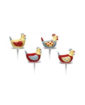 Set of 4 easter designed hens