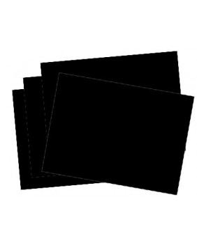 Set of 20 black cardboard bottom