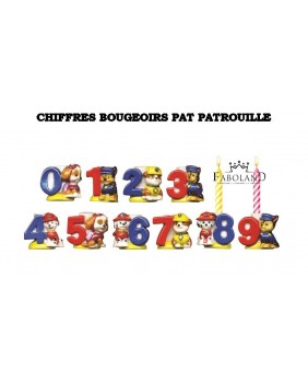 Chiffres bougeoirs pat patrouille