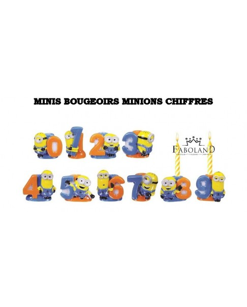 Minis bougeoirs minions chiffres
