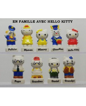 With hello kitty's family