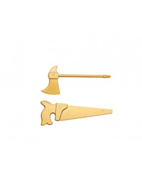 "Gold axes and saws ""new finish"" x100"