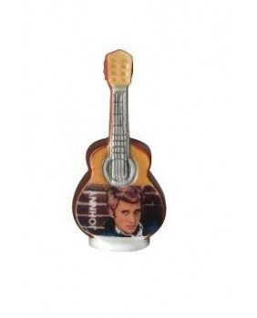 Johnny HALLYDAY feves - brown guitar
