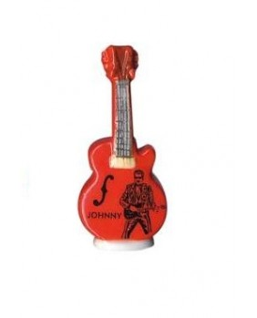 Johnny HALLYDAY feves - orange guitar