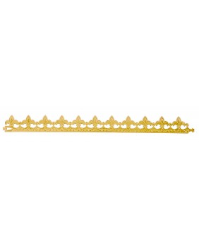 "Set of 10 golden crowns ""fleur de lys"""