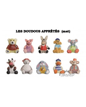 The dressed cuddly toys