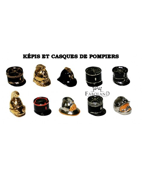 Firefighter's kepis and helmets