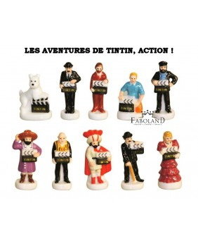 The adventures of Tintin, action! - box of 100