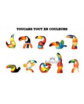 Toucans all in color - box of 100