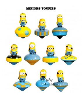 Minions spinning tops - box of 100