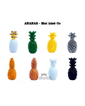 Ananas mat brillant Or