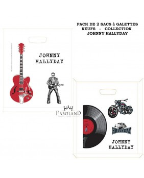Set of 2 king cake bags 30cm Johnny Hallyday's collection
