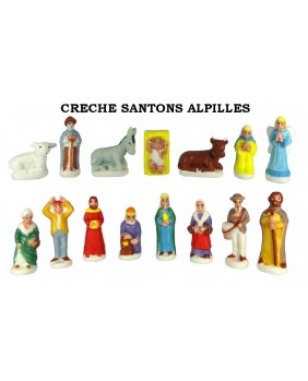 Nativity scene's Alpilles santons