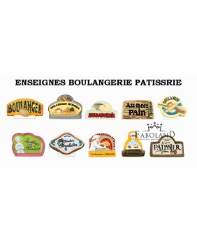 Bakery's and pastry's signs - box of 100