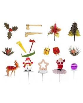 Set of 17 christmas figurines,Version 2