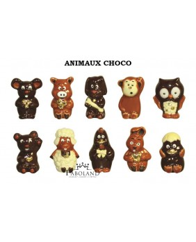 Animales chocolate