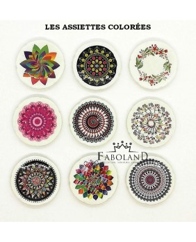 The colored plates - box of 100