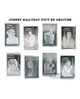 JOHNNY HALLYDAY all in etching