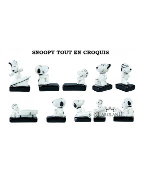 SNOOPY all sketched - box of 100