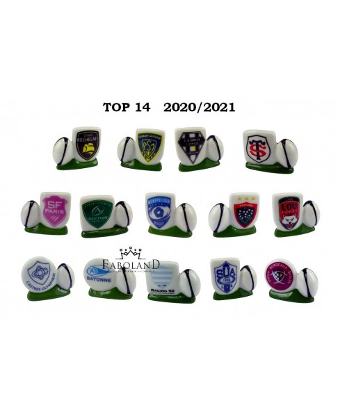 TOP 14 - 2019 / rugby FRANCE - box of 100