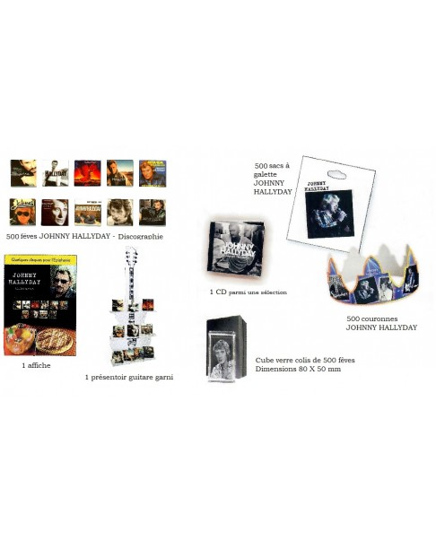 KIT 500 JOHNNY HALLYDAY discography