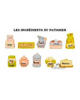 The pastry maker's ingredients
