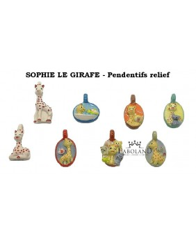 "Sophie the giraffe ""Flat pendants"""