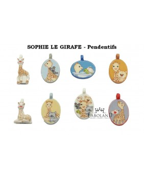 "Sophie the giraffe ""Chromo pendants"" - box of 100"