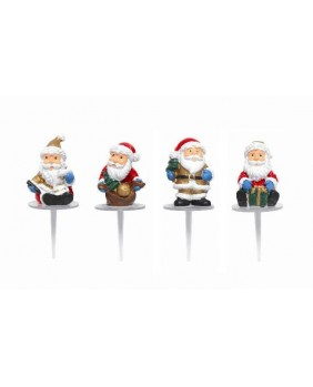 Santa claus with gold presents X4