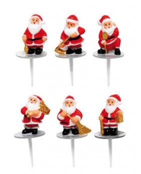 Santa claus in action x6