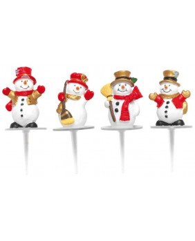 Snowman welcome x4