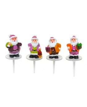 Santa claus with gift-wrapping x4