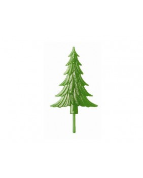 Flat green fir tree x4