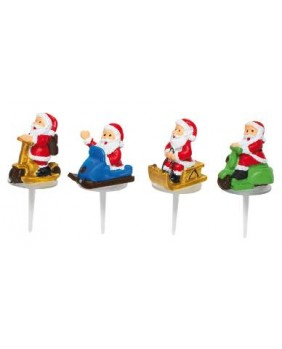 Santa claus scooter and sledge x4