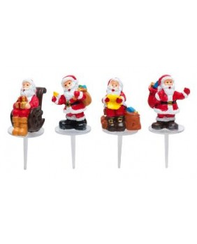 Santa claus with presents x4