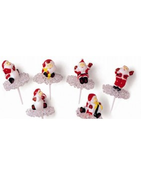 Box of 50 santa claus on ice