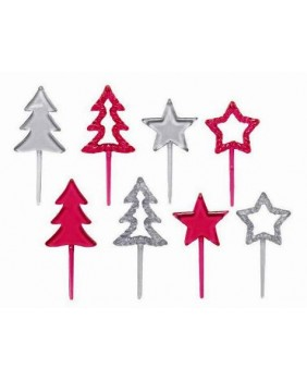Box of 100 soured stars and fir trees
