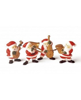 "Box of 48 ""musicians santa claus"""