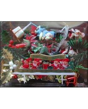 Set of 25 christmas figurines