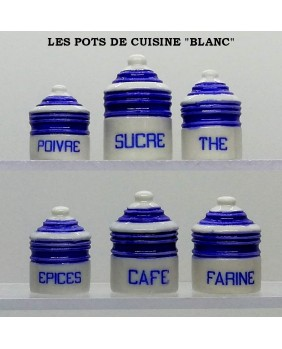 "Kitchen pots ""white"""