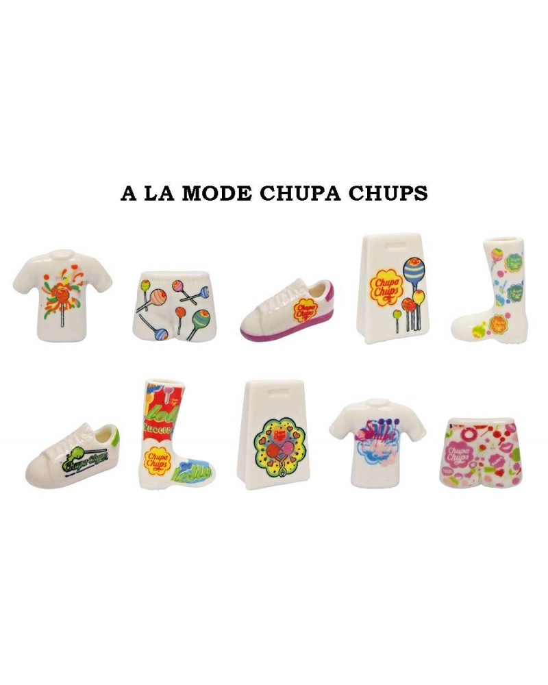 FEVES  A LA MODE CHUPA CHUPS  série complète   ..ref.G108  OFFICIAL LICENSEE